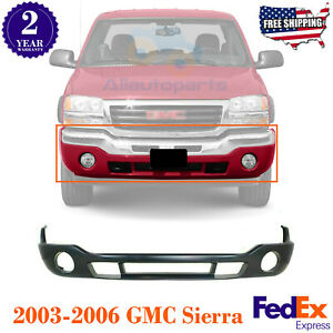 Front Bumper Lower Valance Primed With Fog Light Holes For 03 06 Gmc Sierra