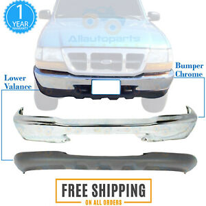 Front Bumper Chrome Lower Valance Panel Textured For 1998 1999 Ford Ranger 4wd