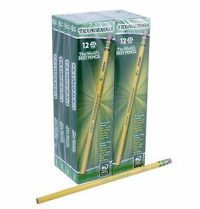 Dixon Ticonderoga Wood cased Pencils 2 Hb Yellow Box Of 96 2 Count 13882