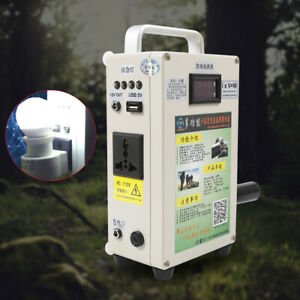 110v Hand Crank Generator With Charger Emergency Power Supply Household outdoor