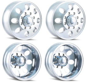 Set Of 4 Ion Alloy Wheels 167 Polished Front rear Dually Wheels 8x165 1 16x6