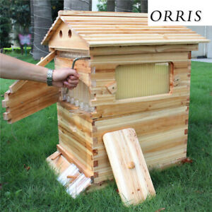 7 Layers Bee Hives Frames Beekeeping Box Auto Flowing Honey Upgraded Capacity