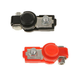 2 Adjustable Battery Terminal Clamp Clips Negative Positive For Auto Car Truck
