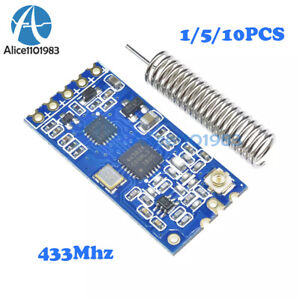 3 2 5 5v Hc 12 433mhz Si4463 Wireless Serial Port Module 1000m Replace Bluetooth