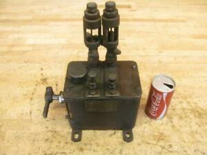 Antique Vintage Hit Miss Gas Steam Engine Mccord Force Feed Lubricator Oiler