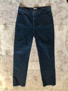 Women's Lee Classic Fit Straight Leg At The Waist Blue Jeans - Size 14 Medium