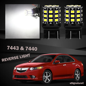 2 X White Backup Reverse Light 7443 7440 33smd Led For 2004 2014 Acura Tsx