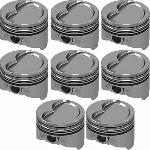 United Engine Machine Kb346 Std Pontiac 400ci Hypereutectic Pistons D Cup Dish