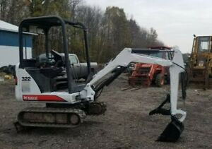 Bobcat 322 Mini Excavator Kubota Diesel Expandable Tracks 2 Spd Thumb 3 Buckets