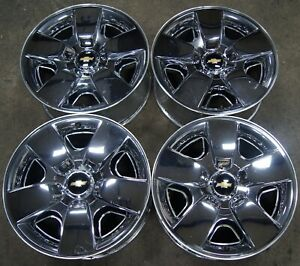 4 Chevy Silverado Suburban Tahoe Chrome Clad 20 Factory Oem Wheels Rims 1892