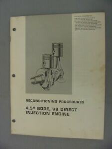 Caterpillar 3208 Diesel Engine 4 5 Bore Reconditioning Procedures 1975