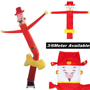 3 6m Inflatable Advertising Air Sky Puppet Dance Tube Flag Wavy Man Wind Dance