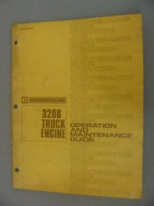 Caterpillar 3208 Diesel Engine Operation Maintenance Guide 1980