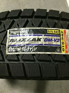 2 New 255 70 16 Bridgestone Blizzak Dm v2 Snow Tires