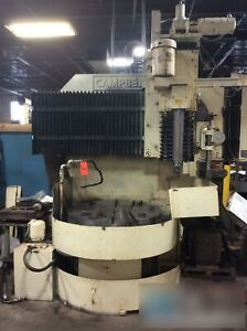Campbell Od id Grinder 42 In Rotary Table With Control Station Hydraulic Pump