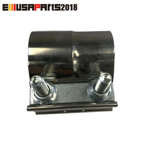 2 25 Od Lap Joint Band Clamp Exhaust Pipe Muffler Resonator Stainless Steel