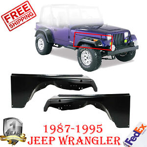 Front Fender Quarter Panel Left Right Side For 1987 1995 Wrangler