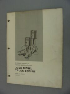 Caterpillar 3208 Diesel Engine System Operation Testing Adjustment 1974