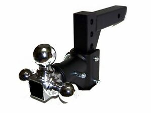 2 Receiver H D Tri ball Swivel Adjustable Trailer Tow Drop Hitch Ball Mount