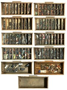 Vtg Homemade Drawer Cabinet W Hundreds Of Tv Repair Capacitors Great Set Piece