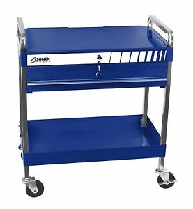 Sunex 8013a bl Service Cart With Locking Top And Drawer Blue