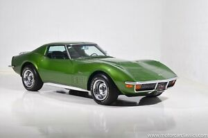 1972 Chevrolet Corvette Stingray Green Poster 24 X 36 Inch Awesome