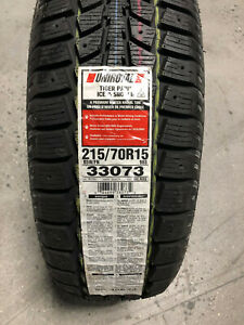 2 New 215 70 15 Uniroyal Tiger Paw Ice Snow Ii Winter Tires