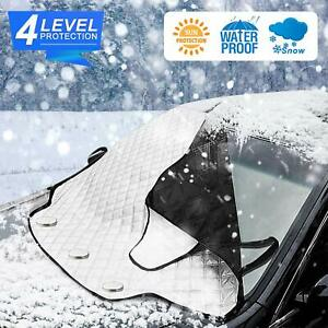 Windshield Cover For Ice And Snow Car Snow Cover Large Thick 4 Layer Protection