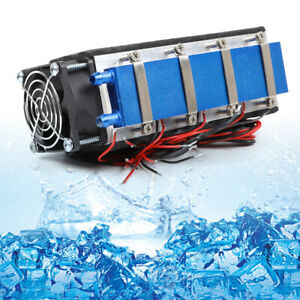 8 chip Thermoelectric Peltier Cooler Refrigeration Air Cooling System 576w 12v