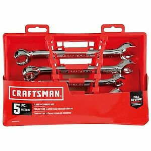 New Craftsman 5 Pcs Full Polish Metric Line flare Nut Wrench Set Mm