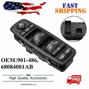 Left Front Master Power Window Switch 68084001ab For 2011 2016 Dodge Journey