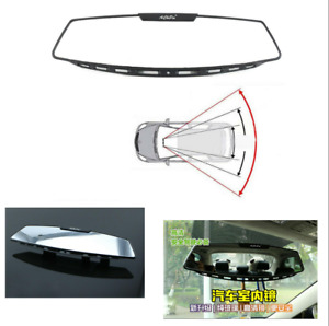 300mm Car Panoramic Convex Wide Flat Interior Clip On Rear View White Mirror