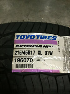 4 New 215 45 17 Toyo Extensa Hp Ii Tires