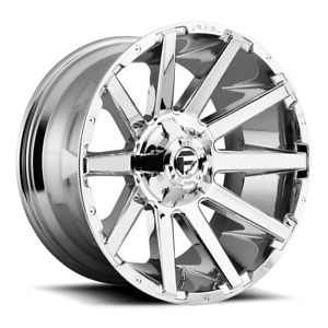 4 20x9 D614 Fuel Chrome Contra Wheels 6x135 6x139 7 For Ford Toyota Jeep