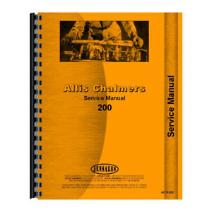 Ac s 200 66086 Service Manual For Allis Chalmers Ac Diesel Tractor Model 200
