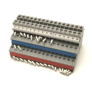 Lot Of 16 Phoenix Contact Dikd 1 5 Sensor Terminal Blocks 3 Pole 250v 15a