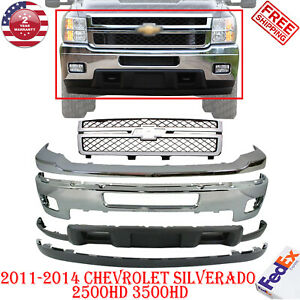 Front Bumper Grille Cover Valance For 11 14 Chevy Silverado 2500hd 3500hd