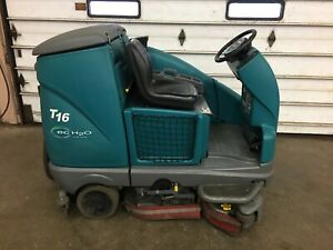 2011 Tennant T16 Electric Scrubber Only 146 Hrs Fully Tested Super Clean