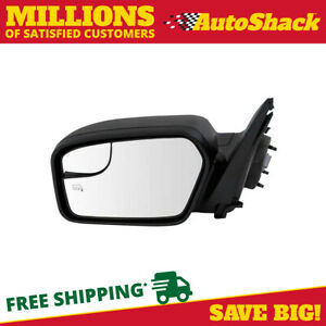 Textured Black Power Heated Driver Left Side Mirror For 2011 2012 Ford Fusion