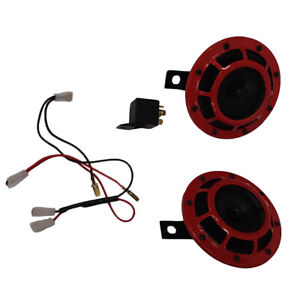 Red Replacement For Hella 003399801 Supertone 12v High Low Tone Twin Horn Kit