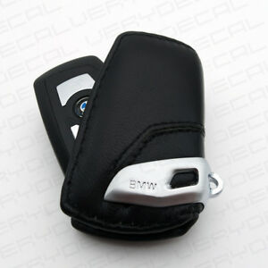 For Bmw Key Holder Fob Leather Case Cover Luxury Black 2 3 4 5 6 7 Serie