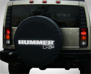 Spare Tire Cover 18inch For Hummer H2 Silver Logo Non reflection Heavy Vinyl 35