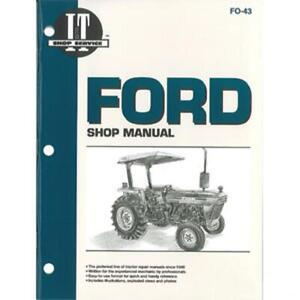 Shop Manual Fits Ford 2810 2910 3910 Tractor