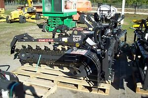 Bradco 625 Skid Steer Trencher 48 Depth 6 Digging Width two Position Digging