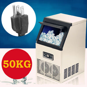 Stainless Steel Commercial Ice Maker Built in Undercounter Freestand 110lb day