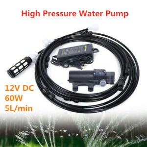 Garden Misting System Tool 12v Water Booster Pump High pressured Water Sprayer
