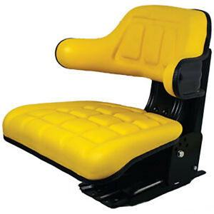 Yellow Waffle Style Suspension Tractor Seat Fits John Deere 2530 2550 2555 2630