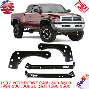 4pc Inner Outer Mounting Bumper Brackets For 1997 2002 Dodge Ram 1500 3500