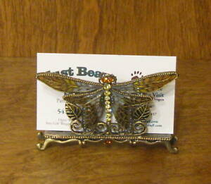 Pewter Business Card Holder h172 Butterfly Nib From Retail Store Welforth