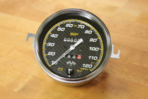 Vw Type 1 2 Bug Bus Ghia Isp Carbon Race 120 Mph Speedometer W Trip Odometer